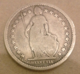 Image #1 of 2 Francs 1874 (B)