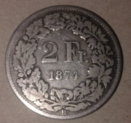Image #2 of 2 Francs 1874 (B)