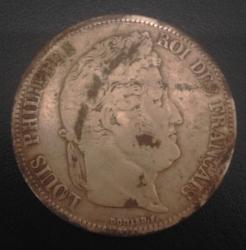 Image #1 of 5 Francs 1833 (M)