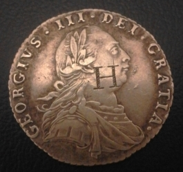 Image #1 of Sixpence 1787 (with hearts)