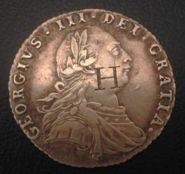 Imaginea #1 a Sixpence 1787 (with hearts)