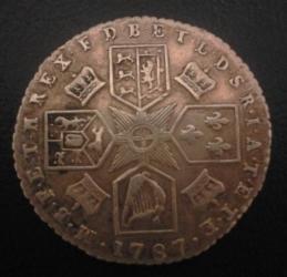 Imaginea #2 a Sixpence 1787 (with hearts)