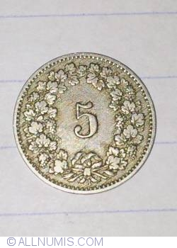 Image #2 of 5 Rappen 1888