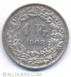 Image #2 of 1 Franc 1908