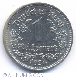 Image #2 of 1 Reichsmark 1934 F