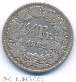 Image #2 of 1/2 Franc 1882