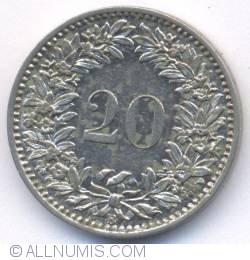 Imaginea #2 a 20 Rappen 1883