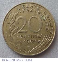 Image #1 of 20 Centimes 1988