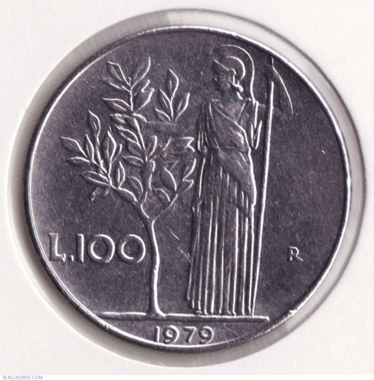 "Cow/"" UNC Italy 100 lire 1979 km#106 /""FAO"