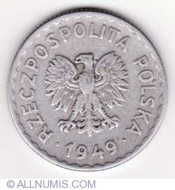Image #2 of 1 Zloty 1949