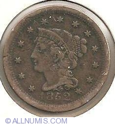 Image #1 of Braided Hair Cent 1852
