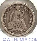 Image #1 of Half Dime Seated Liberty 1853