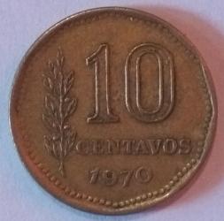 Image #1 of 10 Centavos 1970