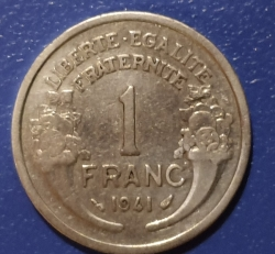 Image #1 of 1 Franc 1941 - Heavy type
