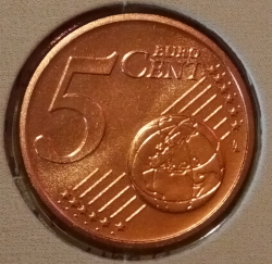 Image #1 of 5 Euro Cent 2018
