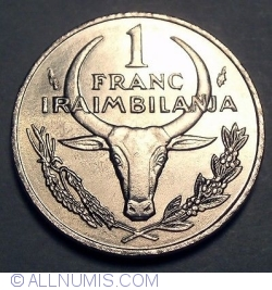 Imaginea #1 a 1 Franc 1966 (Iraimbilanja)