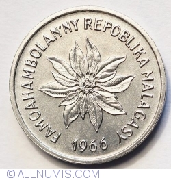 Imaginea #2 a 1 Franc 1966 (Iraimbilanja)