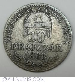Imaginea #1 a 10 Krajczar 1868 GYF