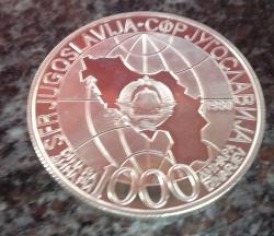 Image #2 of 1000 Dinara 1980 - Josip Broz Tito (proof)