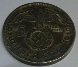 Image #1 of 5 Reichsmark 1936 F - Paul von Hindenburg