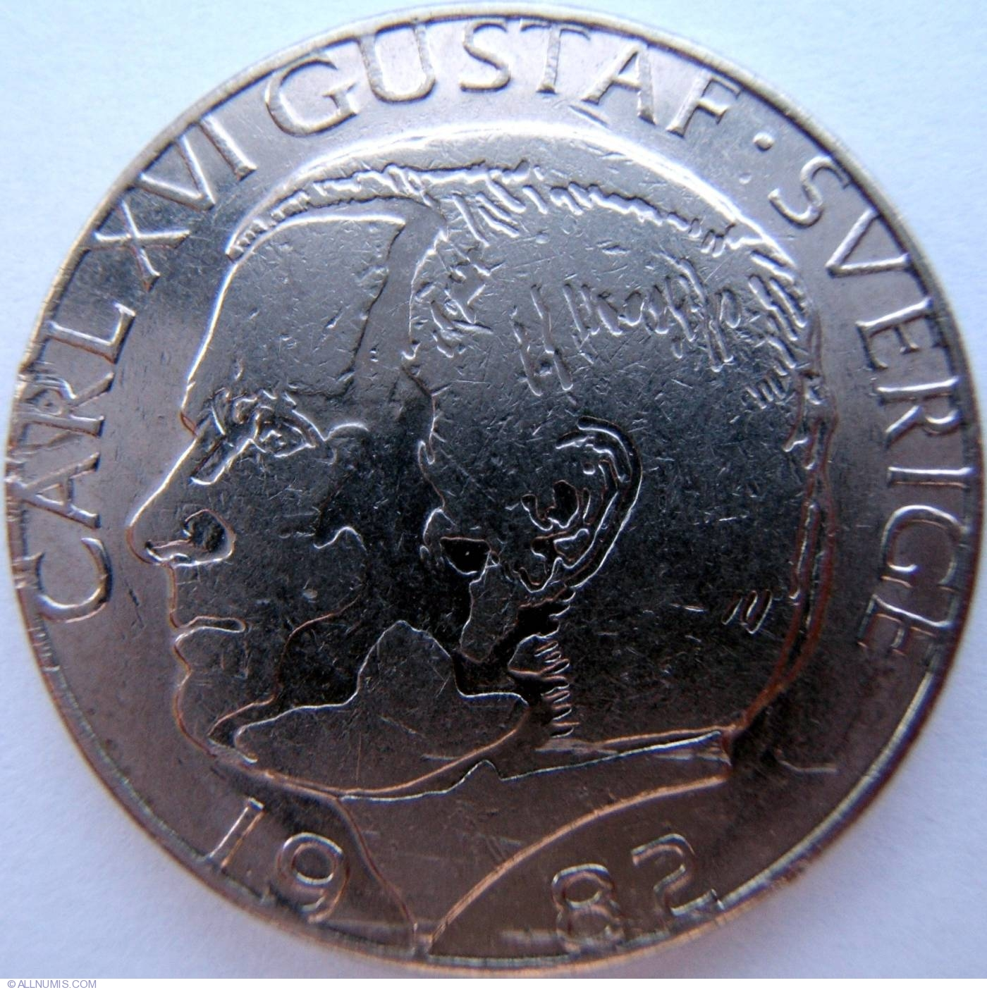 Coin of 1 Krona 1982 from Sweden - ID 3717