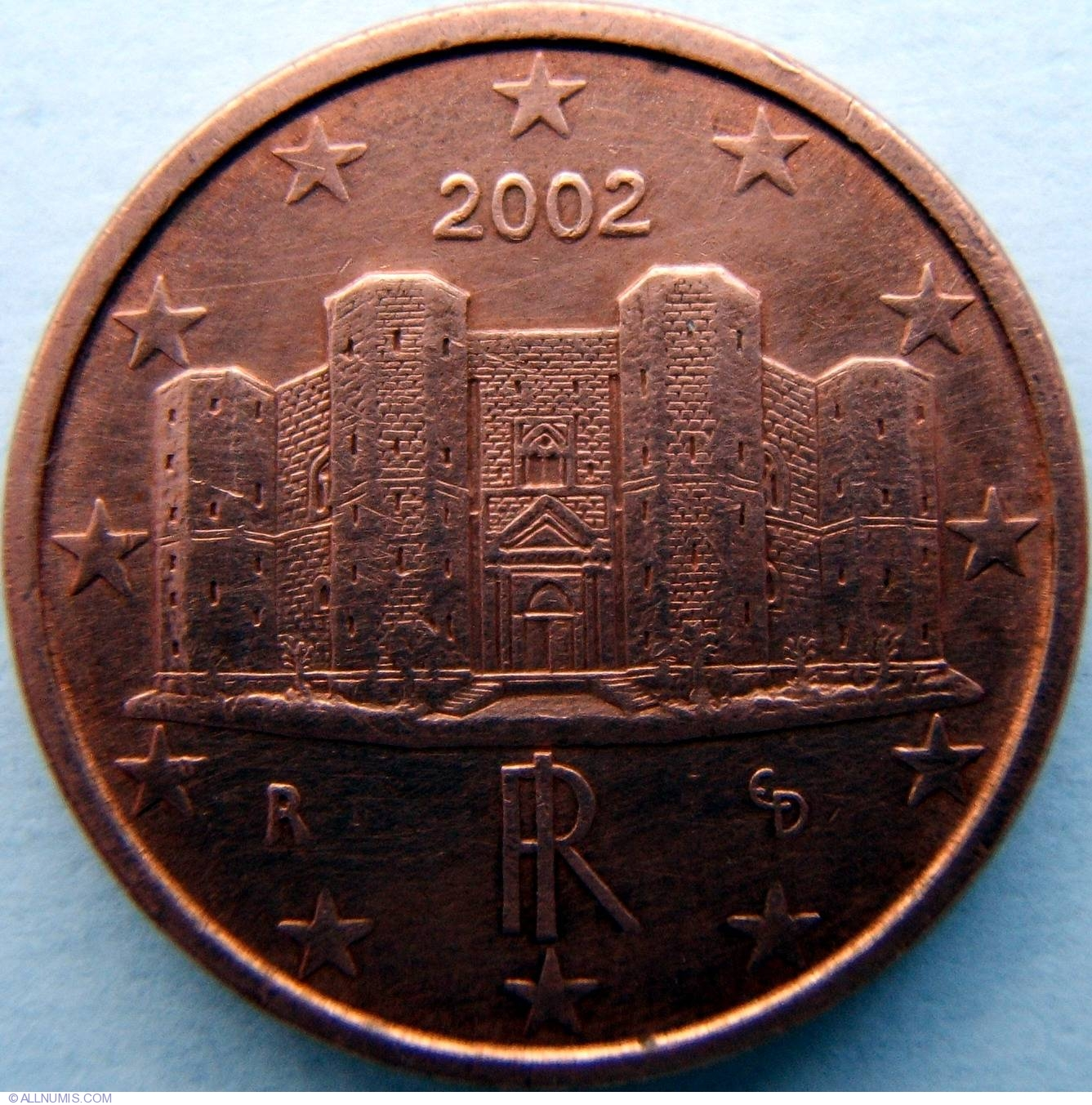 1 euro cent 2002 euro 2002 1 euro cent italy. Black Bedroom Furniture Sets. Home Design Ideas