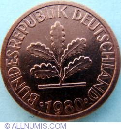 Image #2 of 1 Pfennig 1980 D