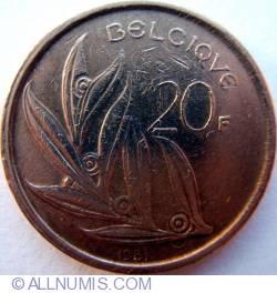 Image #1 of 20 Francs 1981 (Belgique)