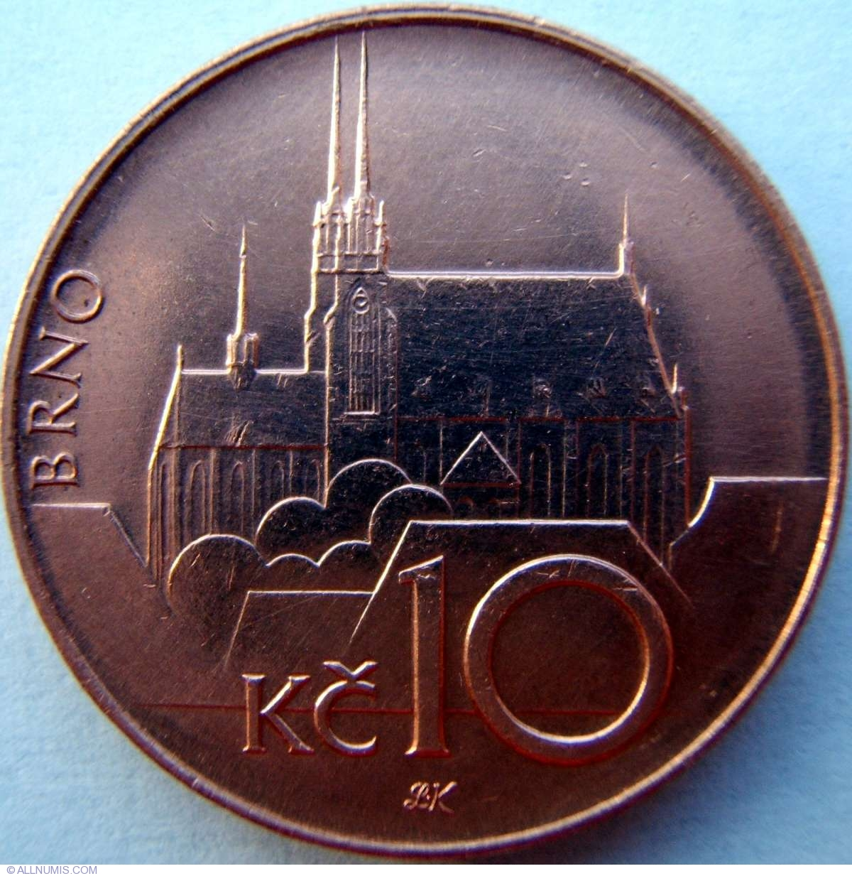 10 Korun 1995, Republic (1993 - 2010) - Czech Republic