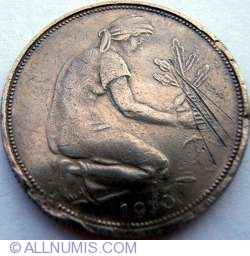 Image #2 of 50 Pfennig 1970 F