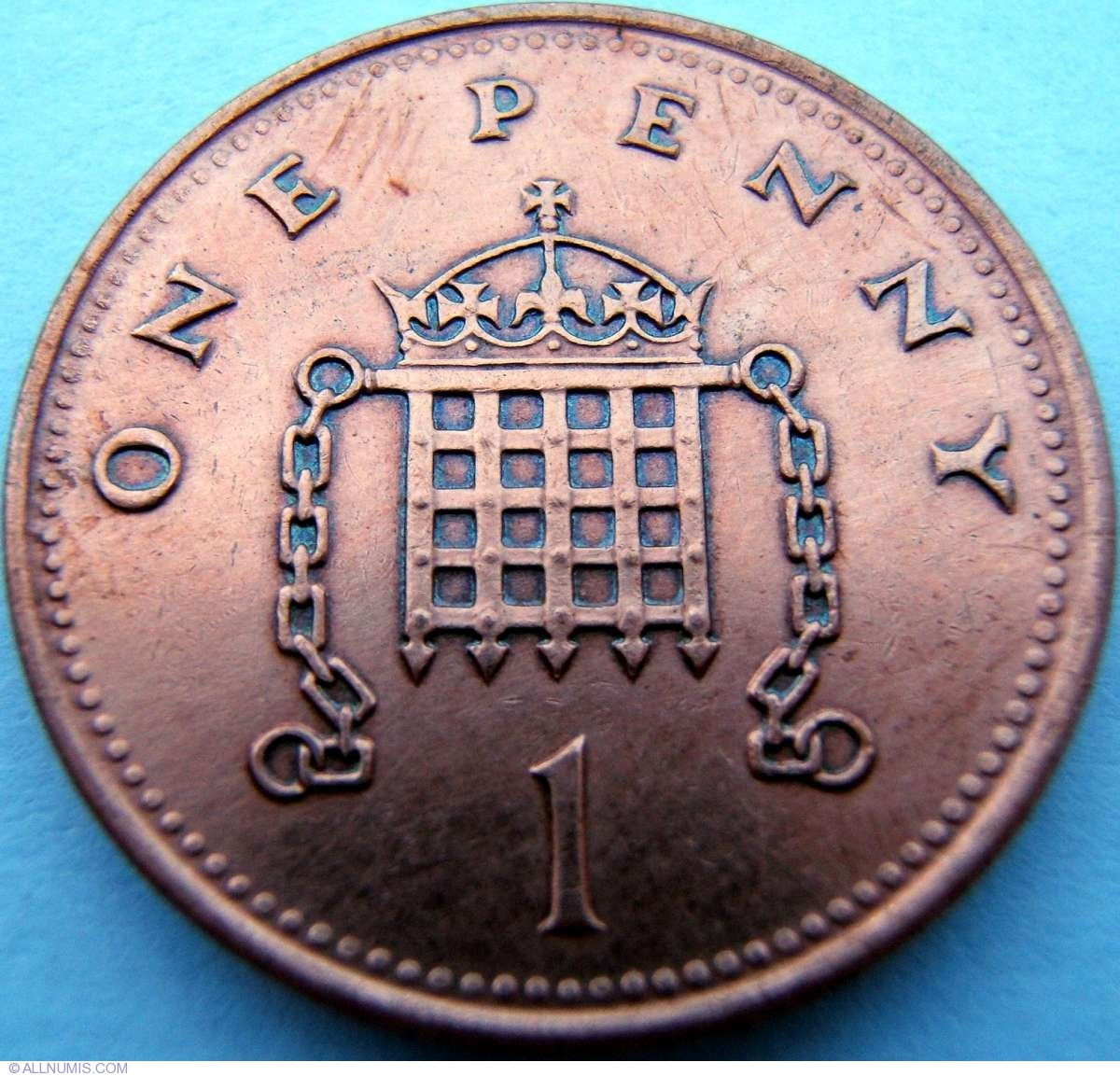 1 Penny 1993, Elizabeth II (1952-present) - Great Britain