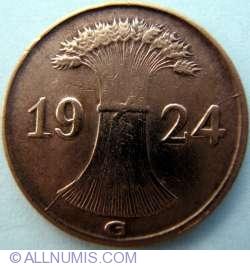 Image #2 of 1 Reichspfennig 1924 G