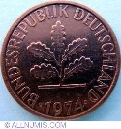 Image #2 of 1 Pfennig 1974 F