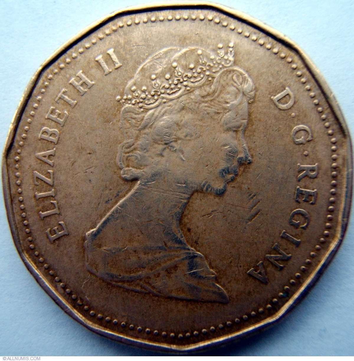 1 Dollar 1987 Elizabeth Ii 1953 Present Canada Coin 2258