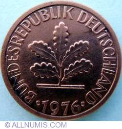 Image #2 of 1 Pfennig 1976 F