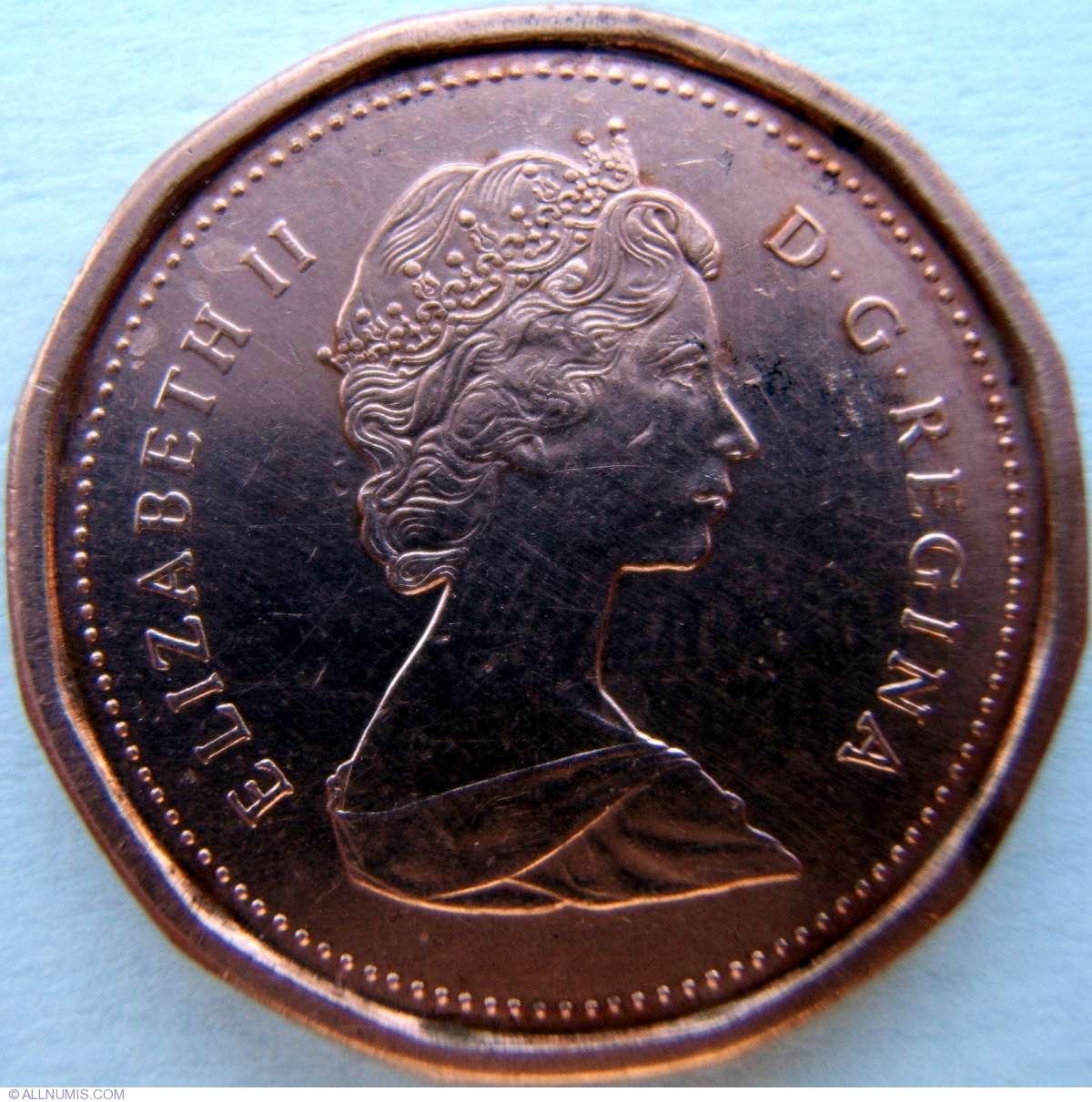 1 Cent 1984 Elizabeth Ii 1953 Present Canada Coin 5491