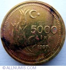 Image #1 of 5000 Lira 1997
