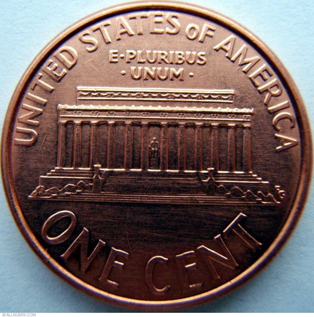 1 Cent 2000 Cent Lincoln Memorial 1959 2008 United