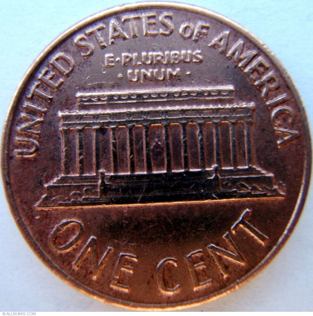 1 Cent 1969 D Cent Lincoln Memorial 1959 2008 United