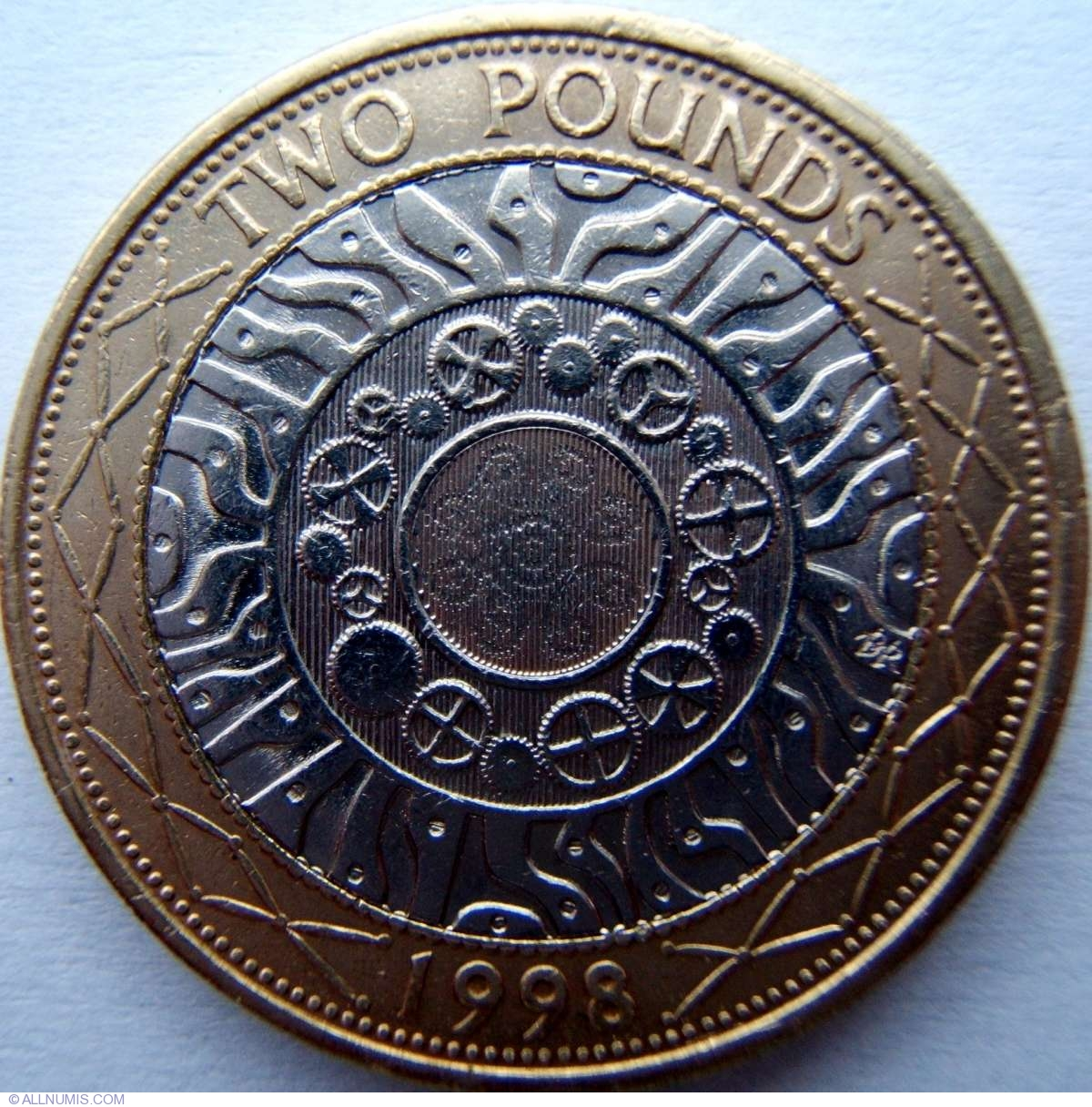 2 Pounds 1998 Elizabeth Ii 2 Pounds Bimetallic 1997