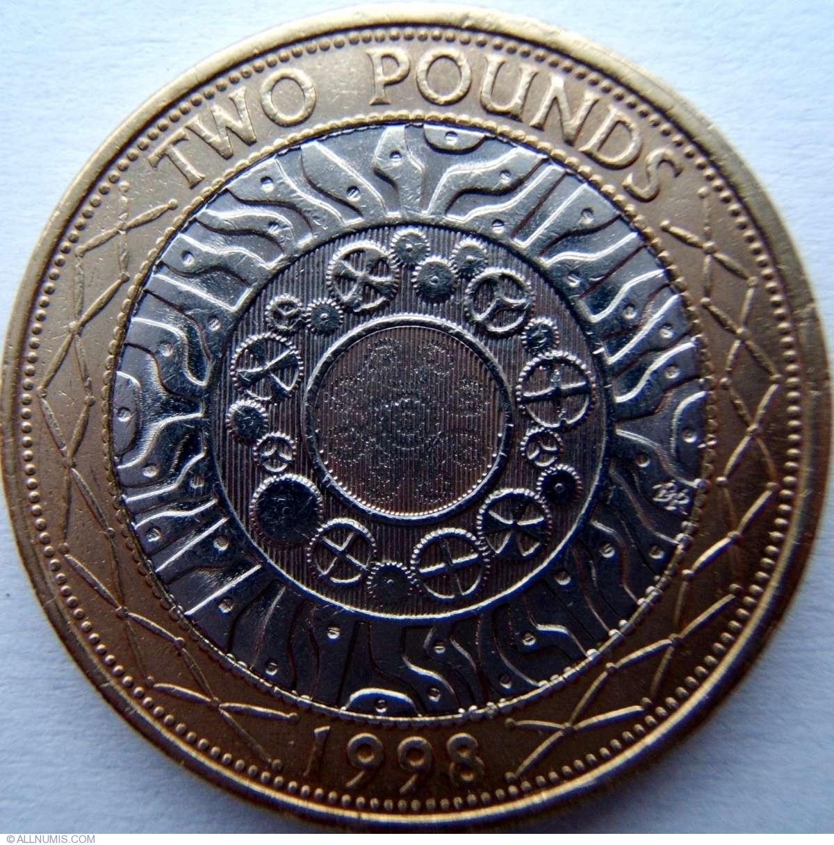 2 Pounds 1998 Elizabeth Ii 1952 Present Great Britain