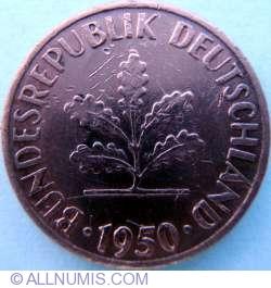 Image #2 of 1 Pfennig 1950 G