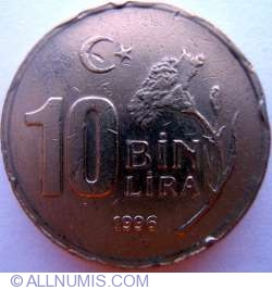 Image #1 of 10000 Lira 1996
