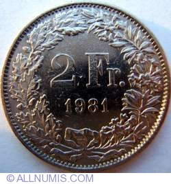 Image #1 of 2 Francs 1981