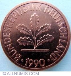 Image #2 of 1 Pfennig 1990 G