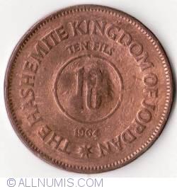 Imaginea #1 a 10 Fils 1964 (AH 1383)