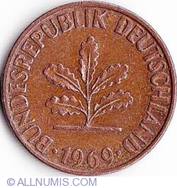 Image #2 of 1 Pfennig 1969 D