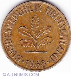 Image #2 of 10 Pfennig 1968 J