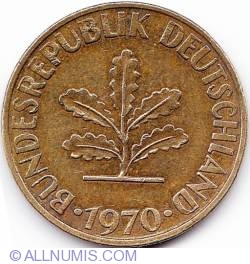 Image #2 of 10 Pfennig 1970 J