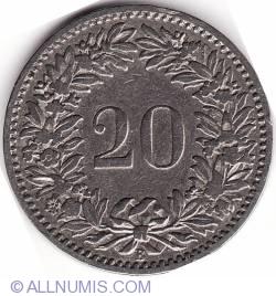 Imaginea #1 a 20 Rappen 1891
